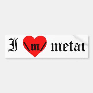 Amo a la pegatina para el parachoques del metal pegatina para auto