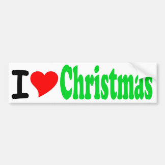 Amo a la pegatina para el parachoques del navidad etiqueta de parachoque
