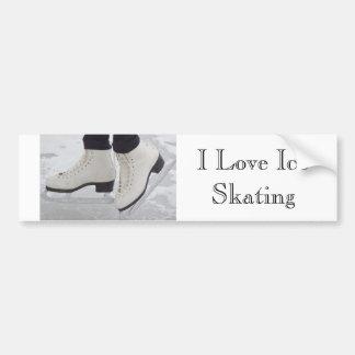 Amo a la pegatina para el parachoques del patinaje etiqueta de parachoque