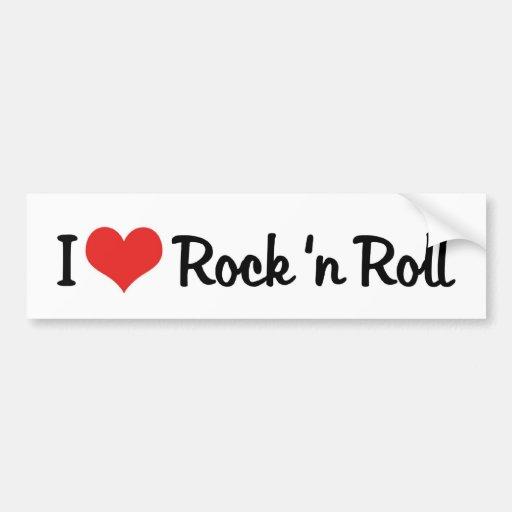 Amo a la pegatina para el parachoques del rock-and pegatina para auto