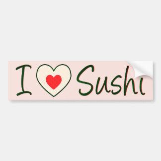 Amo a la pegatina para el parachoques del sushi pegatina para auto