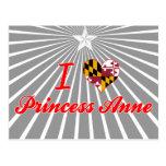 Amo a la princesa+Anne, Maryland Tarjeta Postal
