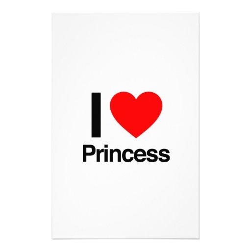 amo a la princesa papelería personalizada