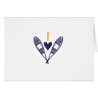 Amo a la raqueta tarjeta de felicitación