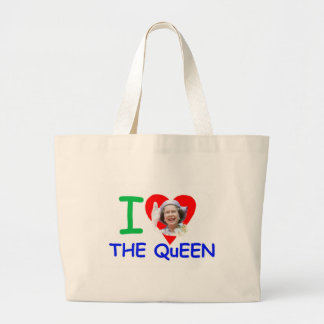 Amo a la reina - reina Elizabeth II Bolsa Tela Grande