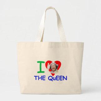 Amo a la reina - reina Elizabeth II Bolsas Lienzo