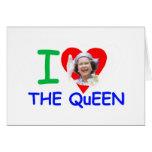 Amo a la reina - reina Elizabeth II Tarjeta De Felicitación