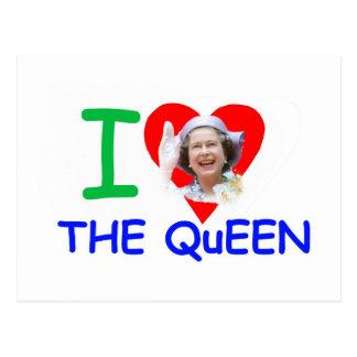 Amo a la reina - reina Elizabeth II Tarjeta Postal