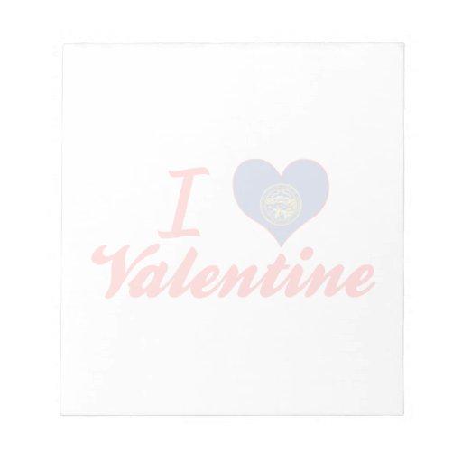 Amo a la tarjeta del día de San Valentín, Nebraska Bloc De Papel
