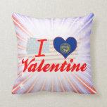Amo a la tarjeta del día de San Valentín, Nebraska Cojines