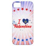 Amo a la tarjeta del día de San Valentín, Nebraska iPhone 5 Case-Mate Cobertura