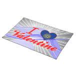 Amo a la tarjeta del día de San Valentín, Nebraska Mantel