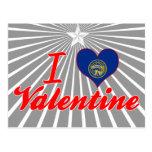 Amo a la tarjeta del día de San Valentín, Nebraska Postales