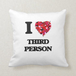 Amo a la tercera persona almohada