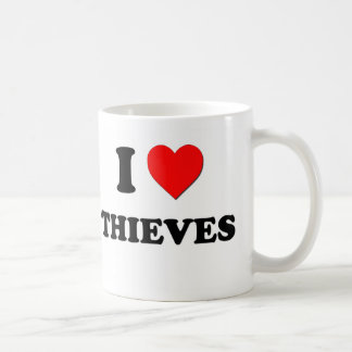 Amo a ladrones taza de café