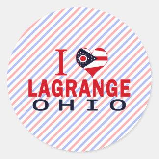 Amo a Lagrange Ohio Pegatina