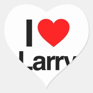 amo a Larry Pegatina En Forma De Corazón