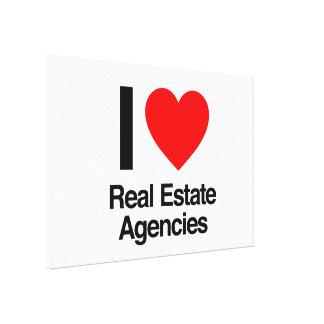 amo a las agencias inmobiliarias reales lona envuelta para galerias