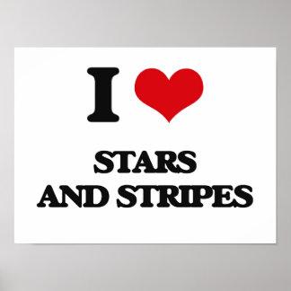 Amo a las barras y estrellas póster