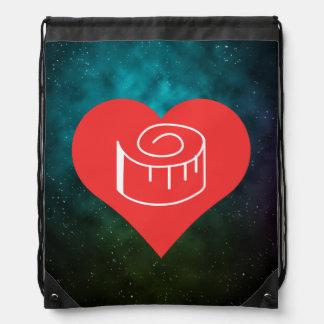 Amo a las cintas métricas mochilas