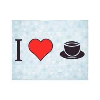 Amo a las fiestas del té ceremoniales impresión en lienzo
