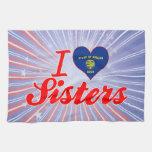 Amo a las hermanas, Oregon Toalla De Mano