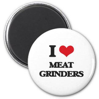 Amo a las máquinas para picar carnes imán para frigorífico