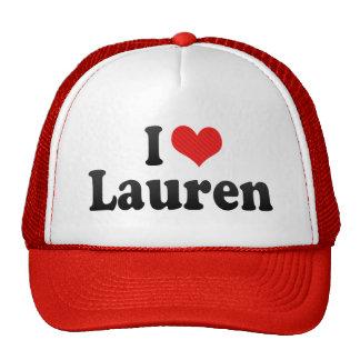 Amo a Lauren Gorros Bordados