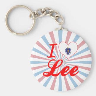 Amo a Lee, Massachusetts Llavero Redondo Tipo Pin