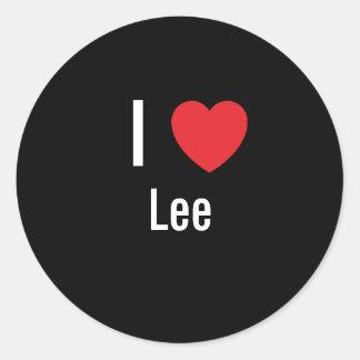 Amo a Lee Etiquetas Redondas