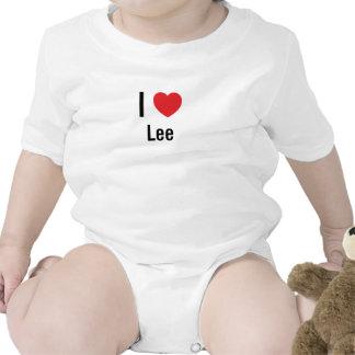 Amo a Lee Traje De Bebé