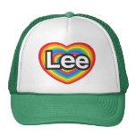 Amo a Lee. Te amo Lee. Corazón Gorros