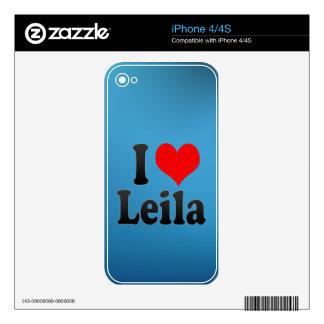 Amo a Leila iPhone 4S Calcomanías