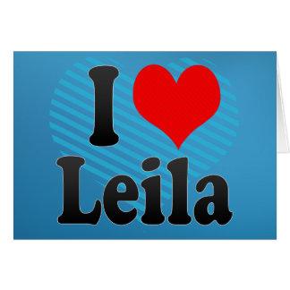 Amo a Leila Felicitacion