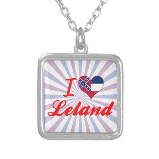 Amo a Leland, Mississippi Pendiente Personalizado