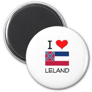 Amo a Leland Mississippi Imán Para Frigorífico