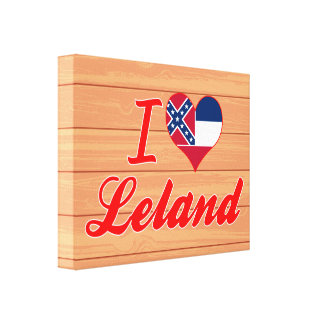 Amo a Leland, Mississippi Impresiones En Lienzo Estiradas