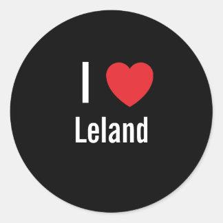 Amo a Leland Pegatina Redonda