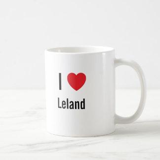 Amo a Leland Taza Básica Blanca
