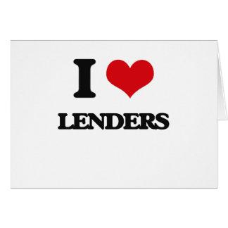 Amo a Lenders Tarjeta De Felicitación