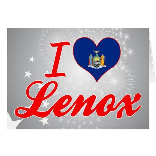 Amo a Lenox, Nueva York Tarjeta De Felicitación