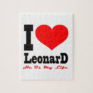 Amo a Leonard Él es mi vida Rompecabezas Con Fotos