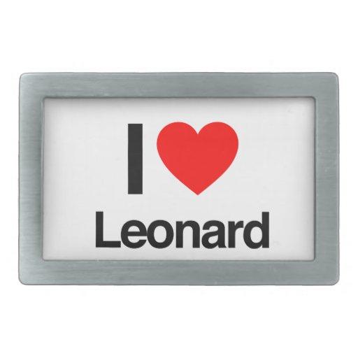 amo a Leonard Hebillas Cinturón Rectangulares