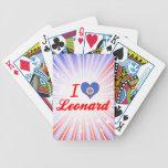 Amo a Leonard, Minnesota Baraja Cartas De Poker