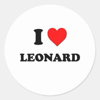 Amo a Leonard Etiqueta Redonda