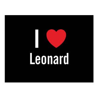 Amo a Leonard Postales