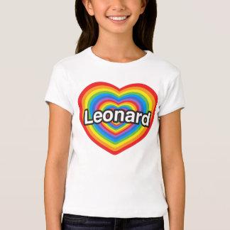 Amo a Leonard. Te amo Leonard. Corazón Playeras