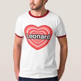 Amo a Leonard. Te amo Leonard. Corazón Polera