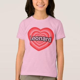 Amo a Leonard. Te amo Leonard. Corazón Remera