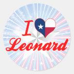 Amo a Leonard, Tejas Etiquetas Redondas